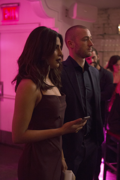 """QUANTICO - """"CLEOPATRA"""" - The recruits are schooled in the art of seduction, which Alex sees as a perfect opportunity to get closer to Owen, but will it threatens her relationship with Ryan? And in the future, Alex finally gets the answers she's been looking for about who and what the terrorists are on, """"Quantico,"""" MONDAY, JANUARY 23 (10:01-11:00 p.m. EST), on the ABC Television Network. (ABC/Giovanni Rufino) PRIYANKA CHOPRA, JAKE MCLAUGHLIN"""