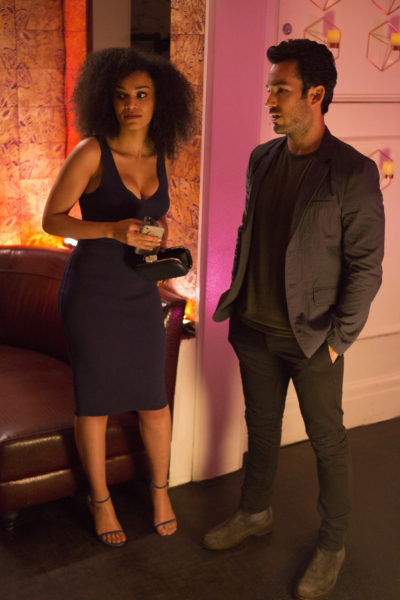 """QUANTICO - """"CLEOPATRA"""" - The recruits are schooled in the art of seduction, which Alex sees as a perfect opportunity to get closer to Owen, but will it threatens her relationship with Ryan? And in the future, Alex finally gets the answers she's been looking for about who and what the terrorists are on, """"Quantico,"""" MONDAY, JANUARY 23 (10:01-11:00 p.m. EST), on the ABC Television Network. (ABC/Giovanni Rufino) PEARL THUSI, AARON DIAZ"""