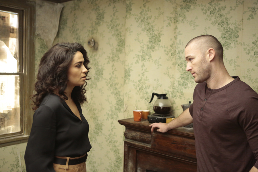 """QUANTICO - """"CLEOPATRA"""" - The recruits are schooled in the art of seduction, which Alex sees as a perfect opportunity to get closer to Owen, but will it threatens her relationship with Ryan? And in the future, Alex finally gets the answers she's been looking for about who and what the terrorists are on, """"Quantico,"""" MONDAY, JANUARY 23 (10:01-11:00 p.m. EST), on the ABC Television Network. (ABC/Giovanni Rufino) YASMINE AL MASSRI, JAKE MCLAUGHLIN"""