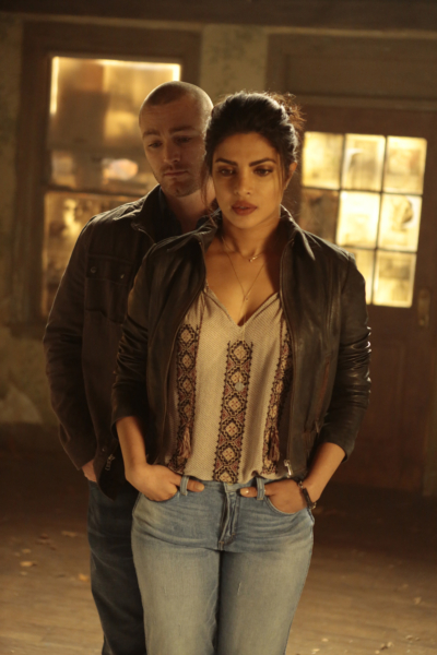 """QUANTICO - """"CLEOPATRA"""" - The recruits are schooled in the art of seduction, which Alex sees as a perfect opportunity to get closer to Owen, but will it threatens her relationship with Ryan? And in the future, Alex finally gets the answers she's been looking for about who and what the terrorists are on, """"Quantico,"""" MONDAY, JANUARY 23 (10:01-11:00 p.m. EST), on the ABC Television Network. (ABC/Giovanni Rufino) JAKE MCLAUGHLIN, PRIYANKA CHOPRA"""