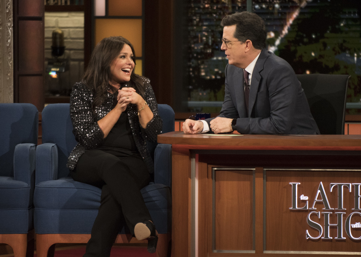first look jon stewart appears on late show with stephen. Black Bedroom Furniture Sets. Home Design Ideas