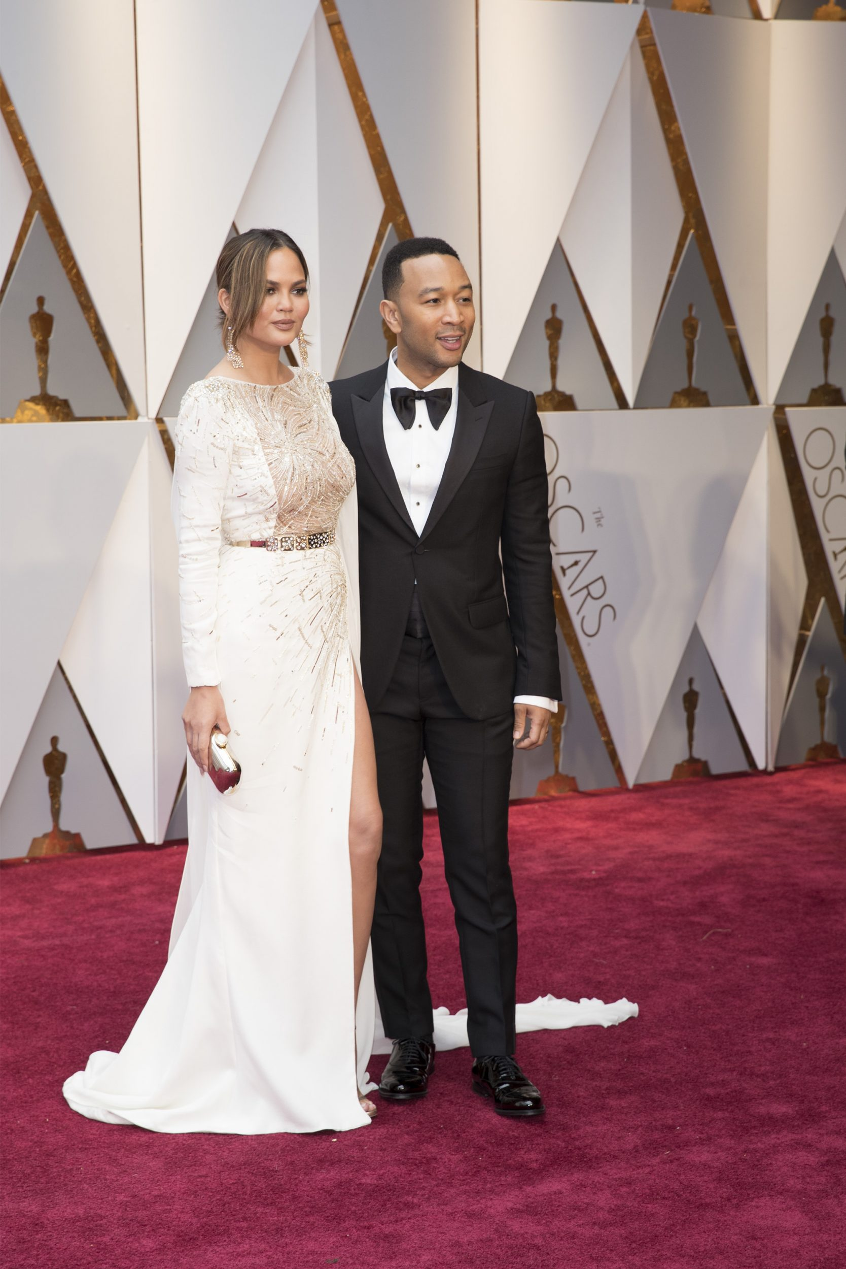 THE OSCARS(r) - The 89th Oscars(r)  broadcasts live on Oscar(r) SUNDAY, FEBRUARY 26, 2017, on the ABC Television Network. (ABC/Tyler Golden) CHRISSY TEIGEN, JOHN LEGEND
