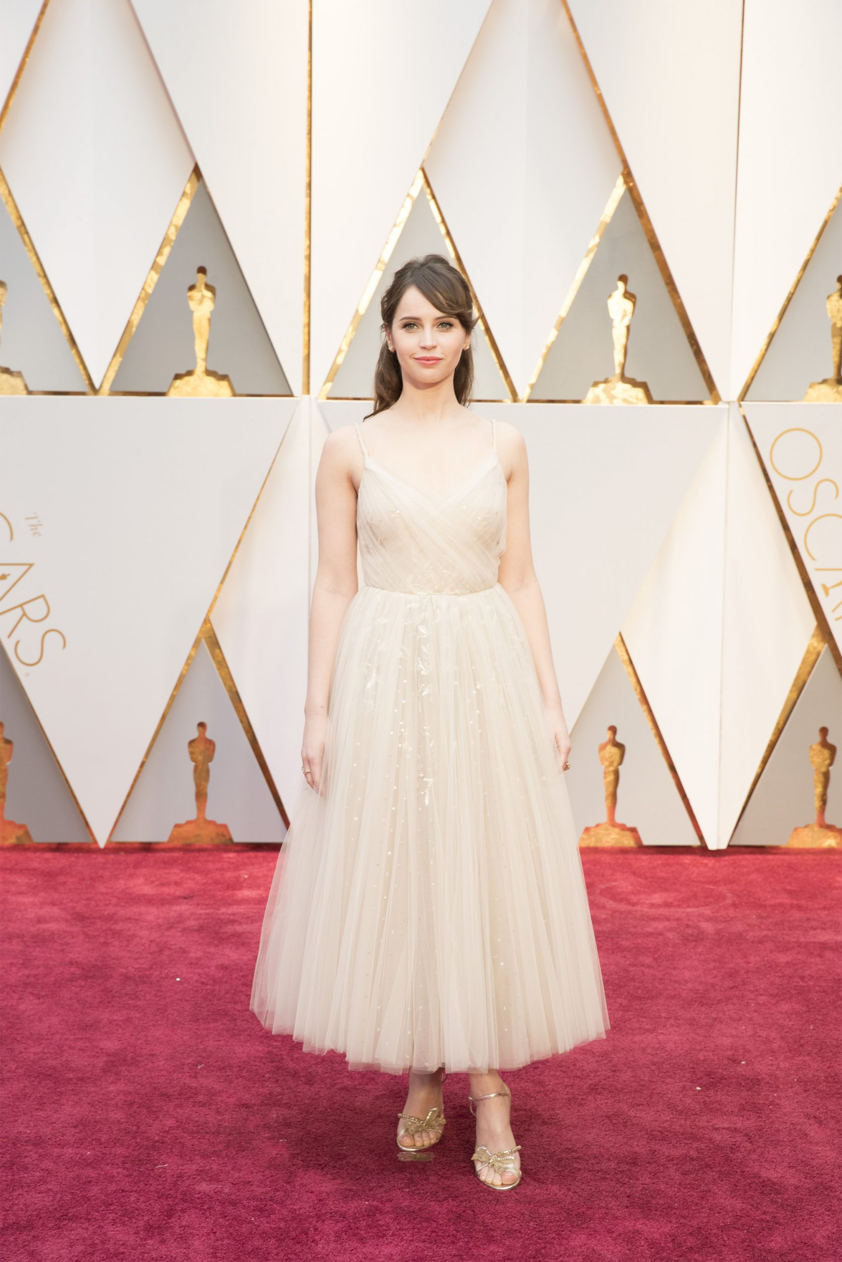 THE OSCARS(r) - The 89th Oscars(r)  broadcasts live on Oscar(r) SUNDAY, FEBRUARY 26, 2017, on the ABC Television Network. (ABC/Tyler Golden) FELICITY JONES