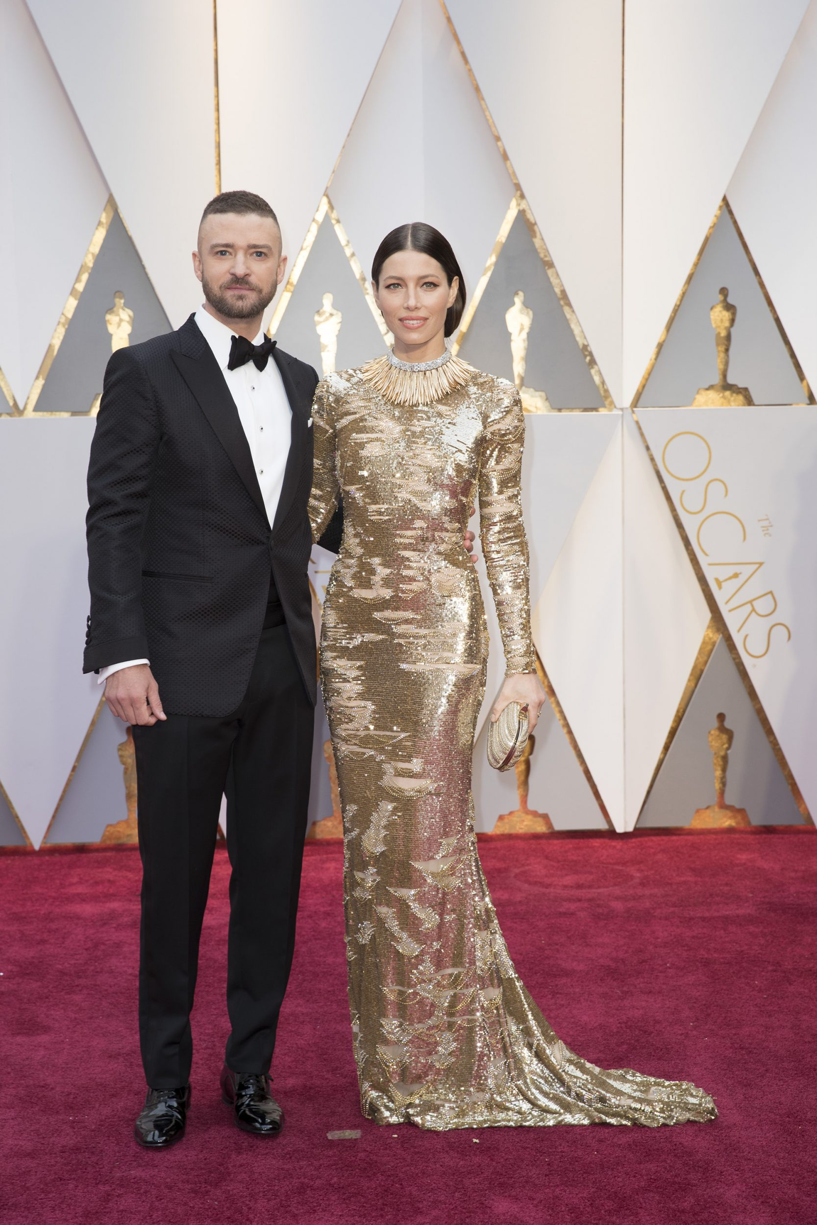 THE OSCARS(r) - The 89th Oscars(r)  broadcasts live on Oscar(r) SUNDAY, FEBRUARY 26, 2017, on the ABC Television Network. (ABC/Tyler Golden) JUSTIN TIMBERLAKE, JESSICA BIEL