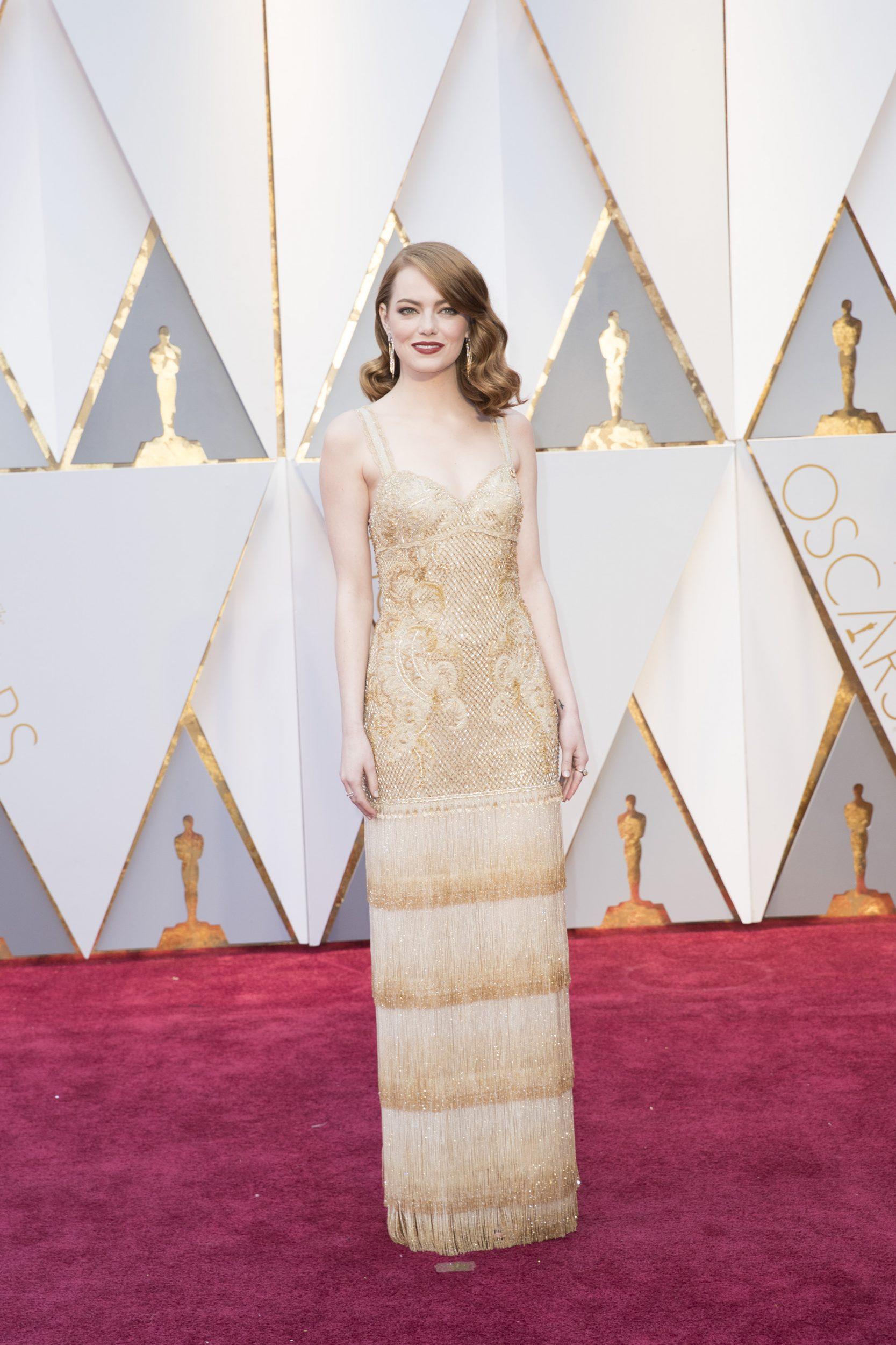 THE OSCARS(r) - The 89th Oscars(r)  broadcasts live on Oscar(r) SUNDAY, FEBRUARY 26, 2017, on the ABC Television Network. (ABC/Tyler Golden) EMMA STONE