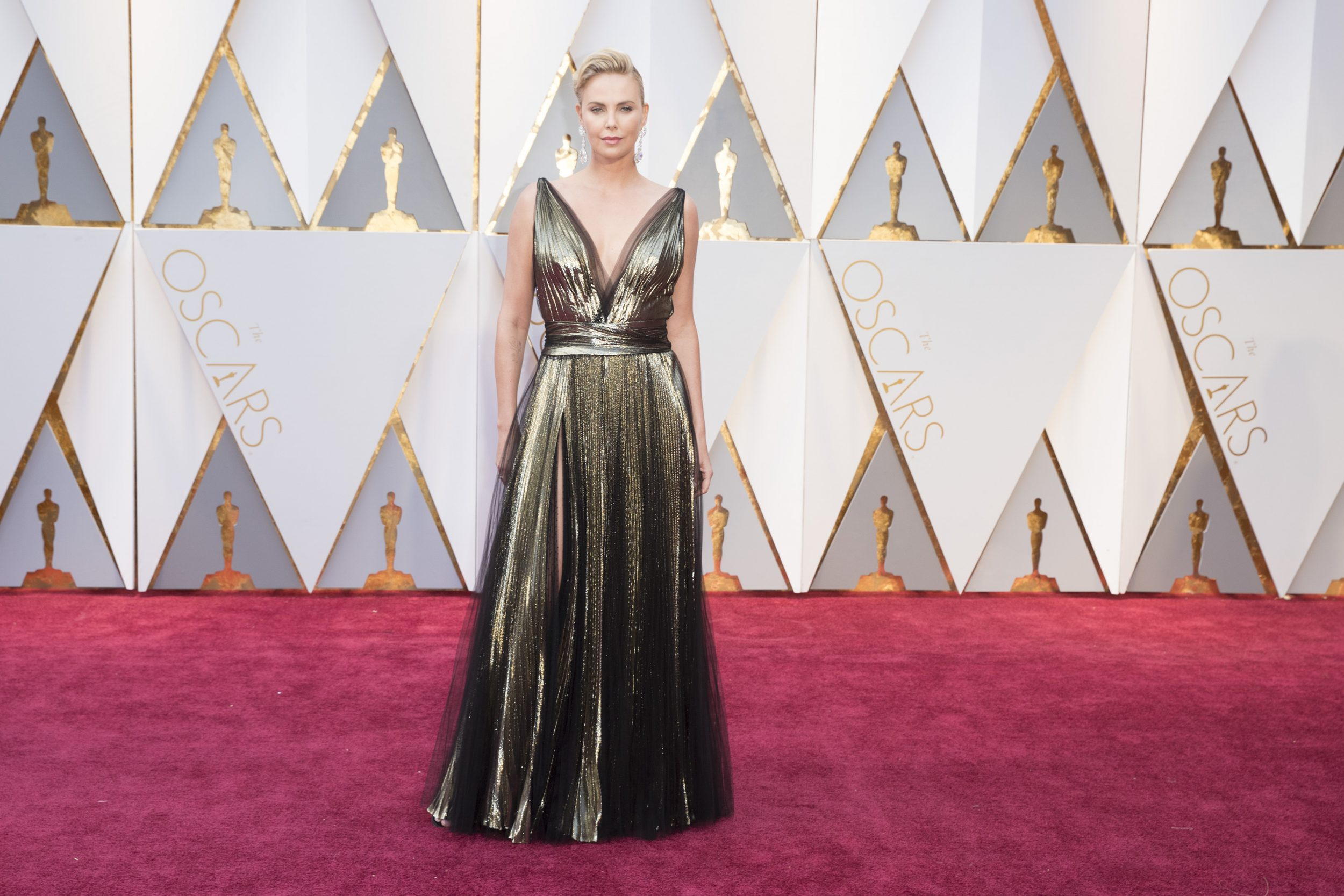 THE OSCARS(r) - The 89th Oscars(r)  broadcasts live on Oscar(r) SUNDAY, FEBRUARY 26, 2017, on the ABC Television Network. (ABC/Tyler Golden) CHARLIZE THERON