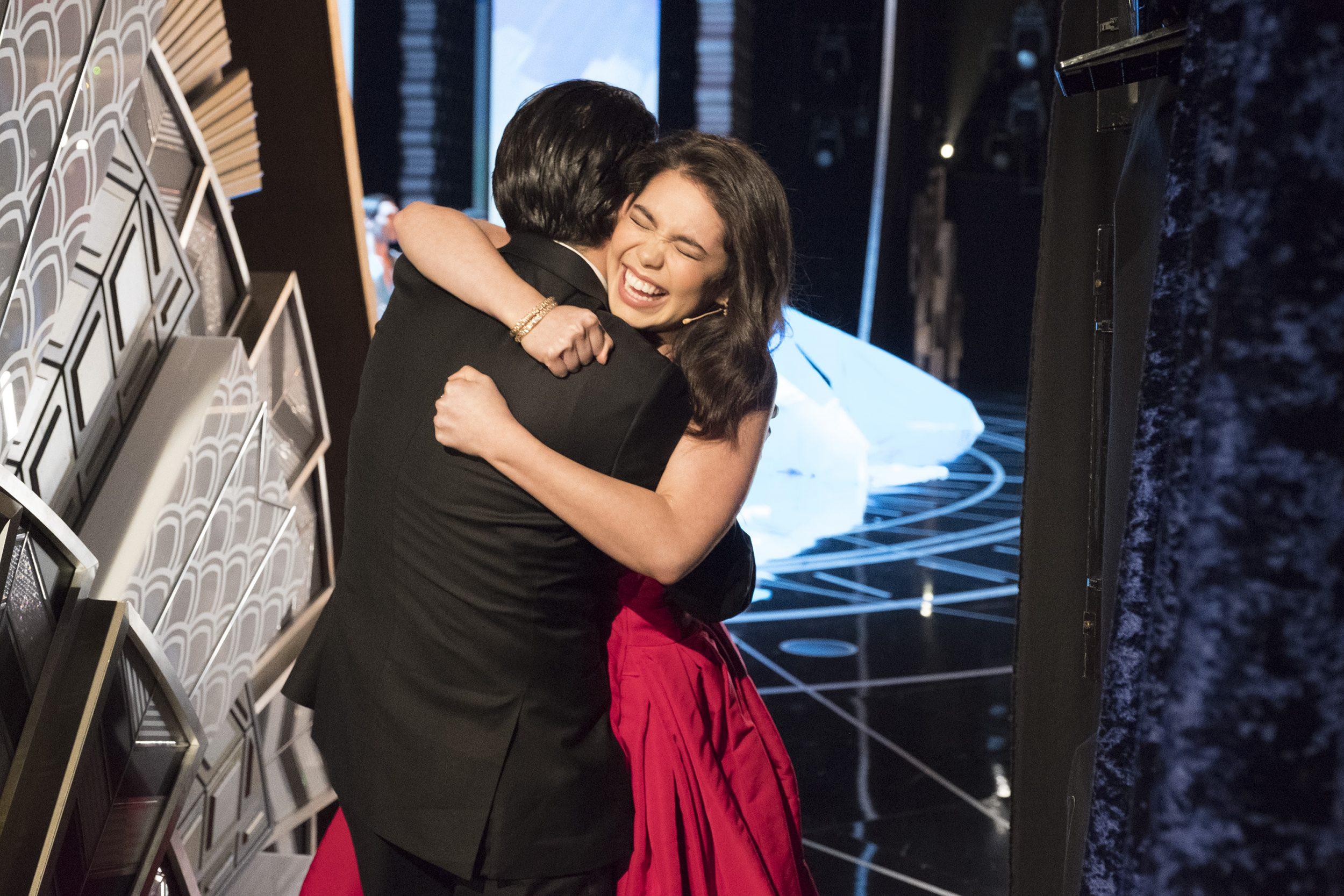 THE OSCARS(r) - The 89th Oscars(r)  broadcasts live on Oscar(r) SUNDAY, FEBRUARY 26, 2017, on the ABC Television Network. (ABC/Adam Rose) LIN-MANUEL MIRANDA, AULI'I CRAVALHO