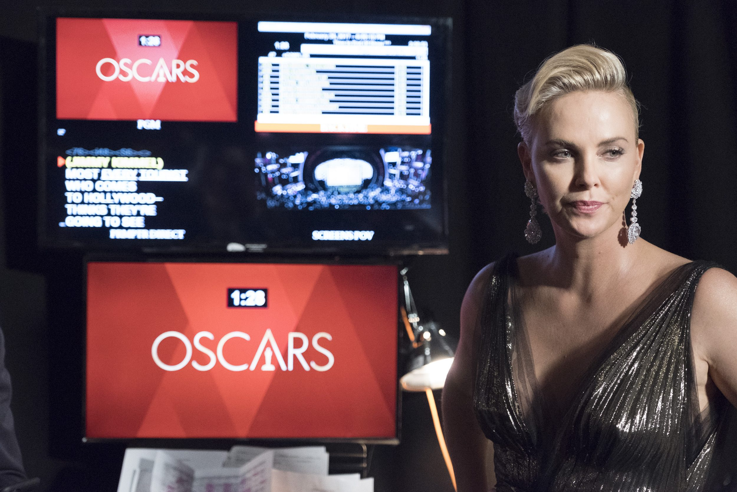 THE OSCARS(r) - The 89th Oscars(r)  broadcasts live on Oscar(r) SUNDAY, FEBRUARY 26, 2017, on the ABC Television Network. (ABC/Adam Rose) CHARLIZE THERON