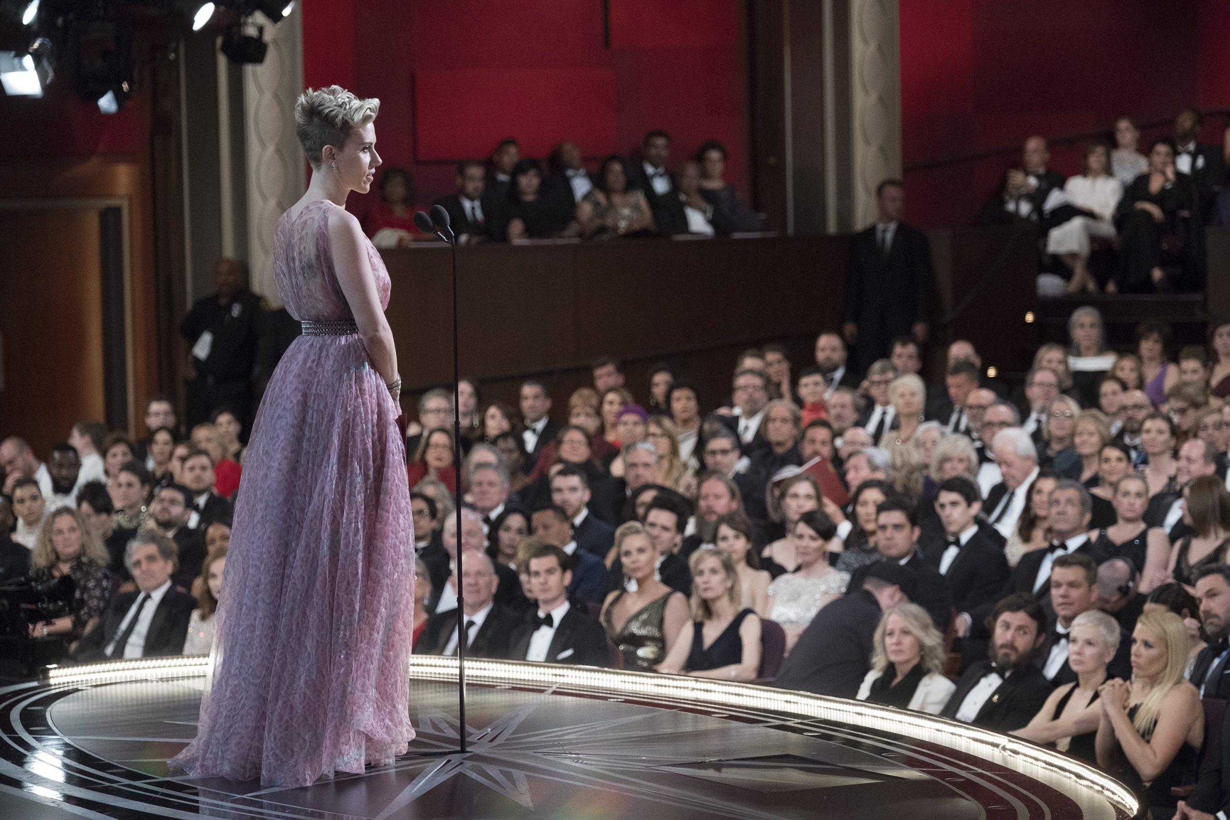 THE OSCARS(r) - The 89th Oscars(r)  broadcasts live on Oscar(r) SUNDAY, FEBRUARY 26, 2017, on the ABC Television Network. (ABC/Adam Rose) SCARLETT JOHANSSON