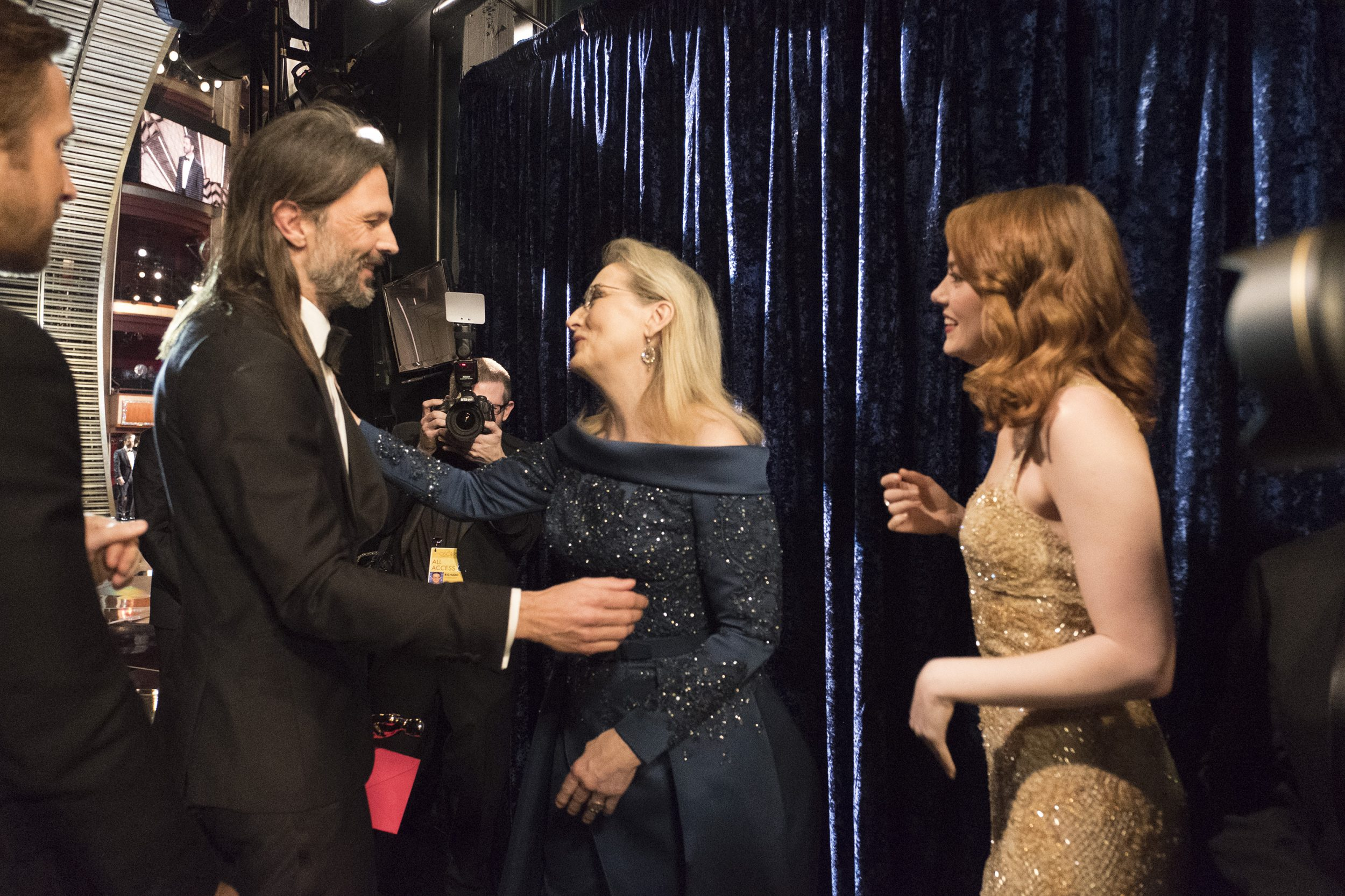 THE OSCARS(r) - The 89th Oscars(r)  broadcasts live on Oscar(r) SUNDAY, FEBRUARY 26, 2017, on the ABC Television Network. (ABC/Adam Rose) LINUS SANDGREN, MERYL STREEP, EMMA STONE