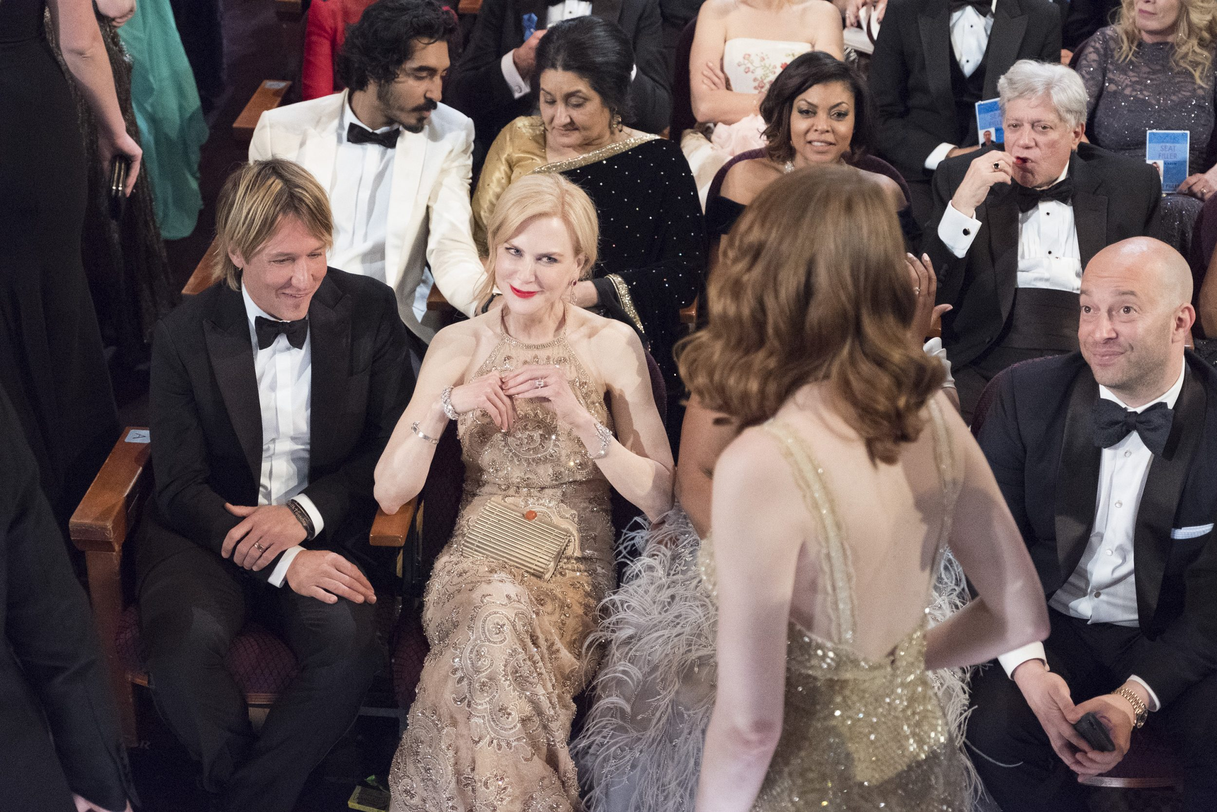 THE OSCARS(r) - The 89th Oscars(r)  broadcasts live on Oscar(r) SUNDAY, FEBRUARY 26, 2017, on the ABC Television Network. (ABC/Adam Rose) KEITH URBAN, NICOLE KIDMAN, EMMA STONE