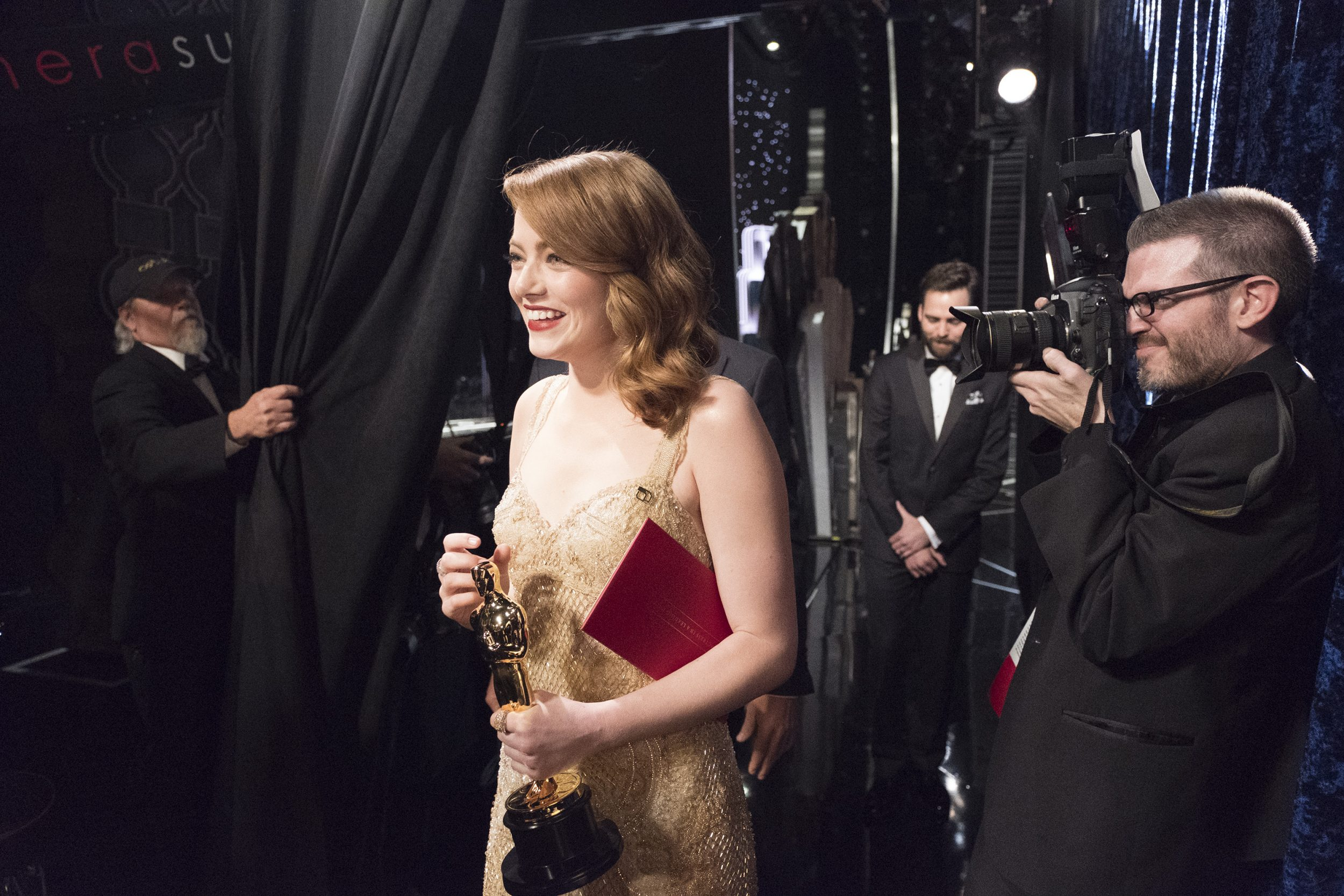 THE OSCARS(r) - The 89th Oscars(r)  broadcasts live on Oscar(r) SUNDAY, FEBRUARY 26, 2017, on the ABC Television Network. (ABC/Adam Rose) EMMA STONE