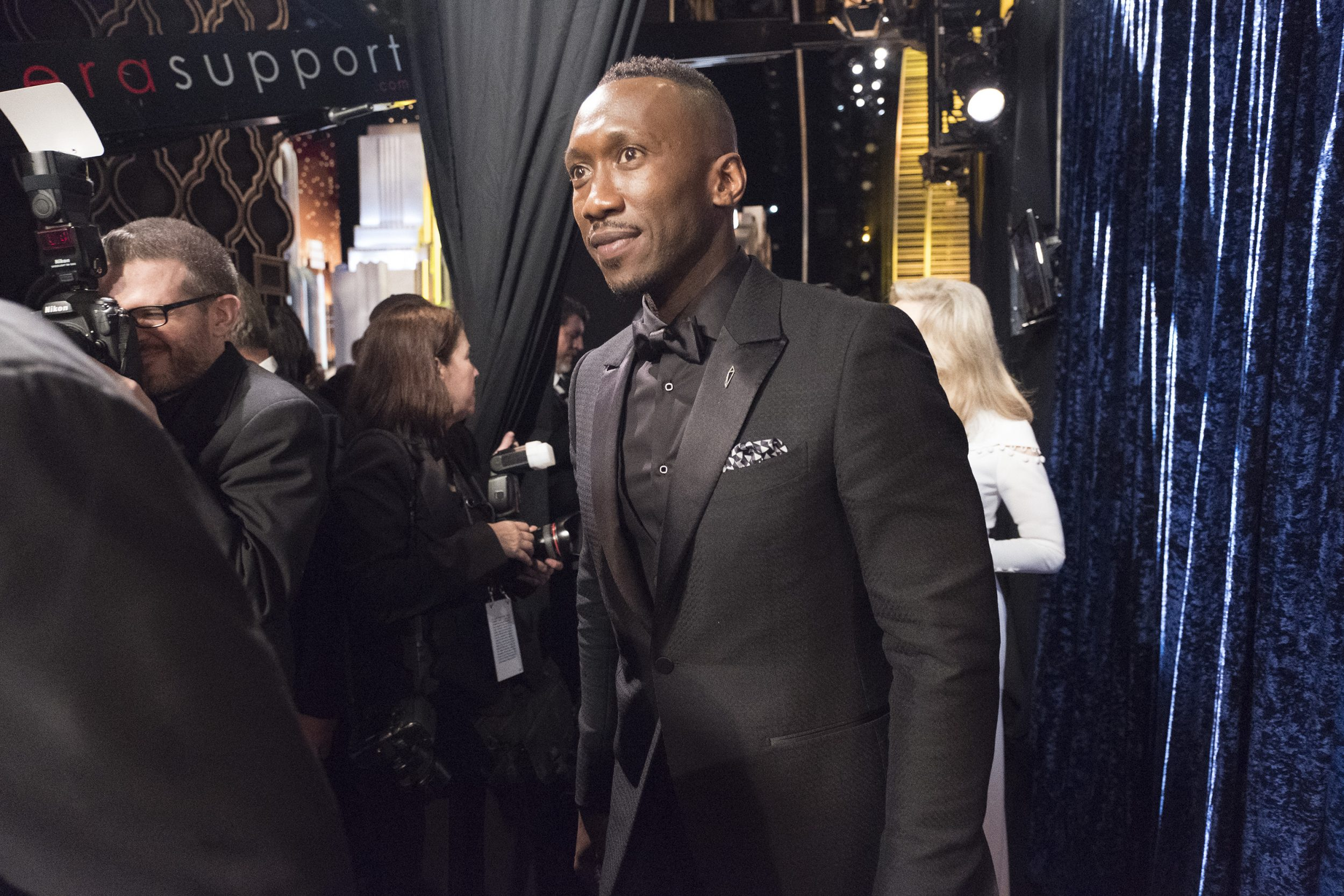 THE OSCARS(r) - The 89th Oscars(r)  broadcasts live on Oscar(r) SUNDAY, FEBRUARY 26, 2017, on the ABC Television Network. (ABC/Adam Rose) MAHERSHALA ALI