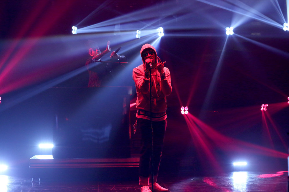 THE TONIGHT SHOW STARRING JIMMY FALLON -- Episode 0628 -- Pictured: Musical guest Future performs on February 21, 2017 -- (Photo by: Andrew Lipovsky/NBC)