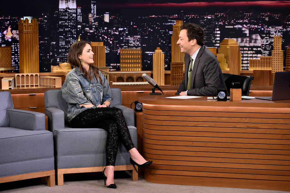 THE TONIGHT SHOW STARRING JIMMY FALLON -- Episode 0632 -- Pictured: (l-r)  Actress Keri Russell during an interview with host Jimmy Fallon on February 27, 2017 -- (Photo by: Theo Wargo/NBC)
