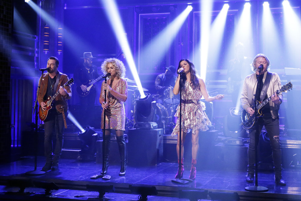 THE TONIGHT SHOW STARRING JIMMY FALLON -- Episode 0630 -- Pictured: Musical guest Little Big Town performs on February 23, 2017 -- (Photo by: Andrew Lipovsky/NBC)