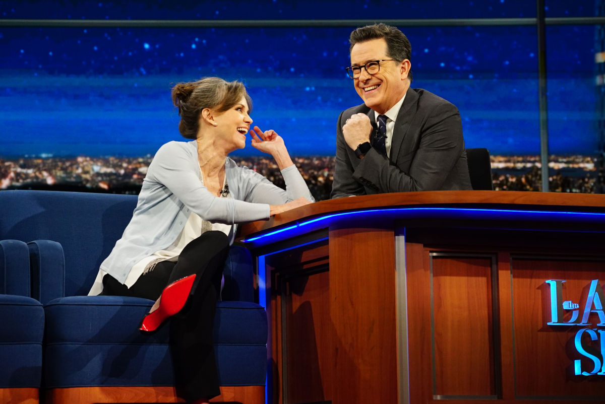 The Late Show with Stephen Colbert on Thursday, Feb. 16, 2017 with guest Sally Field Photo: Mary Kouw/CBS ©2017 CBS Broadcasting Inc. All Rights Reserved