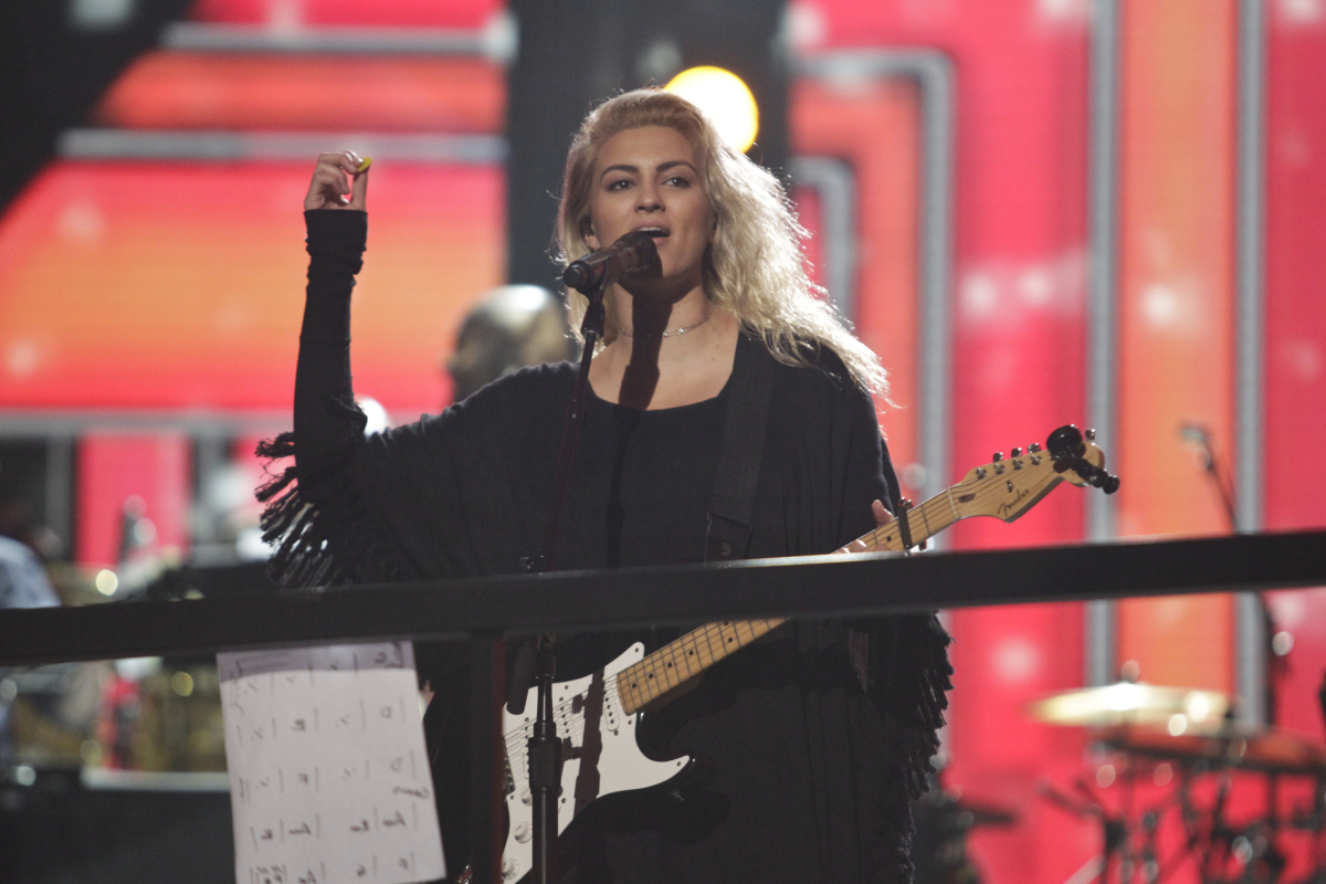 Tori Kelly performs during rehearsals for THE 59TH ANNUAL GRAMMY AWARDS®, scheduled to broadcast live from the STAPLES Center in Los Angeles, Sunday, Feb. 12 (8:00-11:30 PM, live ET/5:00-8:30 PM, live PT; 6:00-9:30 PM, live MT) on the CBS Television Network. Photo: Francis Specker/CBS ©2017 CBS Broadcasting, Inc. All Rights Reserved