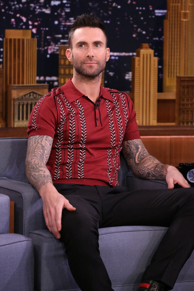THE TONIGHT SHOW STARRING JIMMY FALLON -- Episode 639 -- Pictured: Singer Adam Levine on March 14, 2017 -- (Photo by: Andrew Lipovsky/NBC)