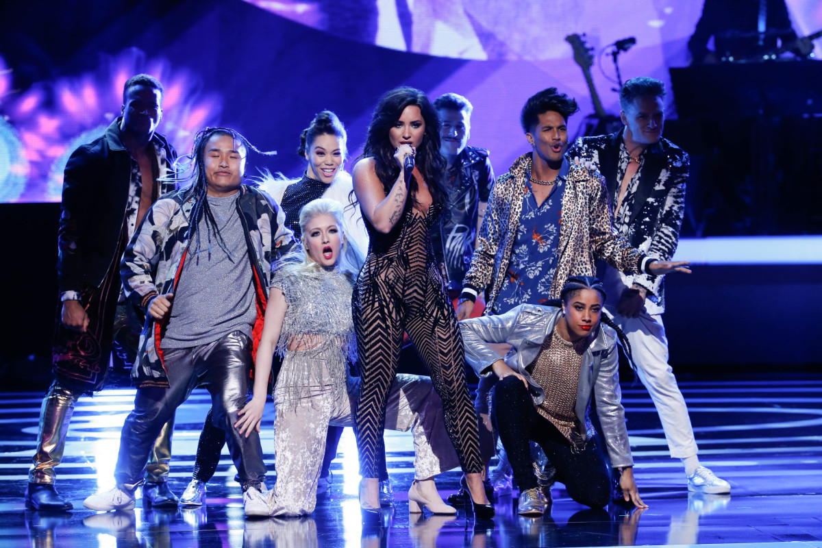"Music stars Andra Day, Celine Dion, DNCE, Nick Jonas, Tori Kelly, Little Big Town, Demi Lovato, Katharine McPhee, Panic! at the Disco, Pentatonix, Ed Sheeran, Keith Urban, Kelsea Ballerini & Thomas Rhett, Jason Derulo & Tavares, John Legend & Stevie Wonder and Barry Gibb celebrate the Bee Gees' remarkable music catalog on, ""STAYIN' ALIVE: A GRAMMY® SALUTE TO THE MUSIC OF THE BEE GEES,"" Sunday, April, 16 (8:00-10:00 PM, ET/ PT) on the CBS Television Network. Pictured: Demi Lovato Photo: Monty Brinton/CBS ©2017 CBS Broadcasting, Inc. All Rights Reserved"