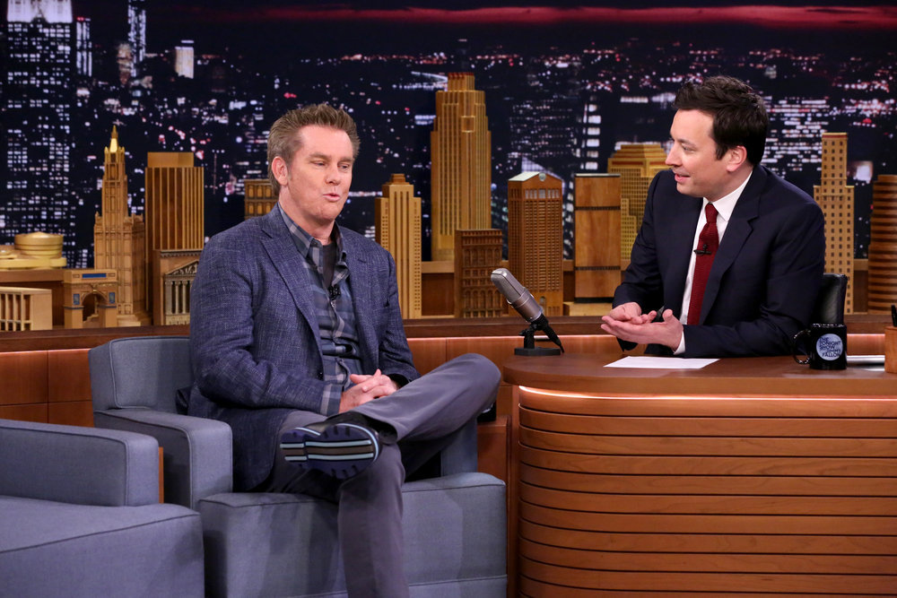 THE TONIGHT SHOW STARRING JIMMY FALLON -- Episode 0648 -- Pictured: (l-r) Comedian Brian Regan during an interview with host Jimmy Fallon on March 28, 2017 -- (Photo by: Andrew Lipovsky/NBC)