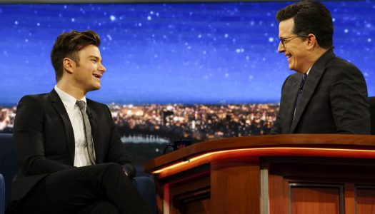 """Chris Colfer Appears On """"Late Show With Stephen Colbert"""" (Watch Now)"""