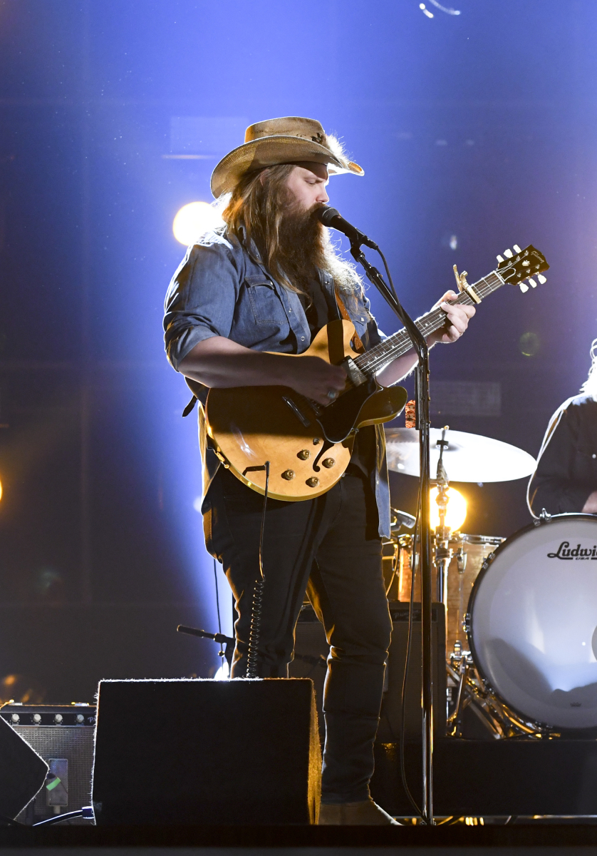 Chris Stapleton performs during rehearsal for THE 52ND ACADEMY OF COUNTRY MUSIC AWARDS®, scheduled to air LIVE from T-Mobile Arena in Las Vegas Sunday, April 2 (live 8:00-11:00 PM, ET/delayed PT) on the CBS Television Network. Photo: Michele Crowe/CBS ©2017 CBS Broadcasting, Inc. All Rights Reserved