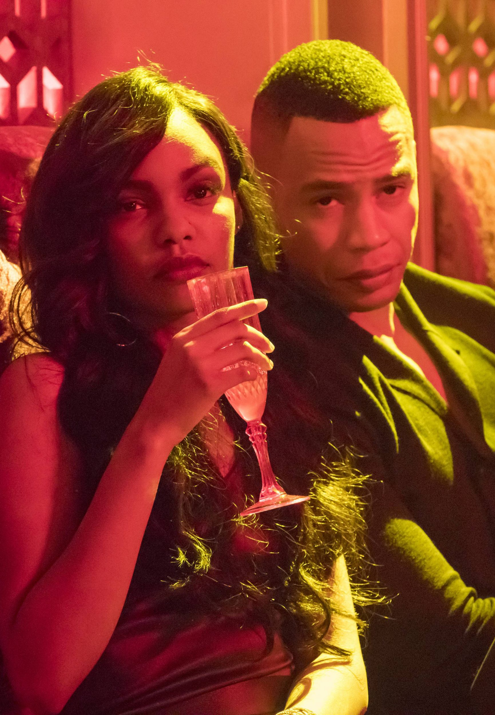 """EMPIRE: Pictured L-R: Sierra McClain and Trai Byers in the """"Sound & Fury"""" spring premiere episode of EMPIRE airing Wednesday, March 22 (9:00-10:00 PM ET/PT) on FOX. ©2017 Fox Broadcasting Co. CR: Chuck Hodes/FOX"""