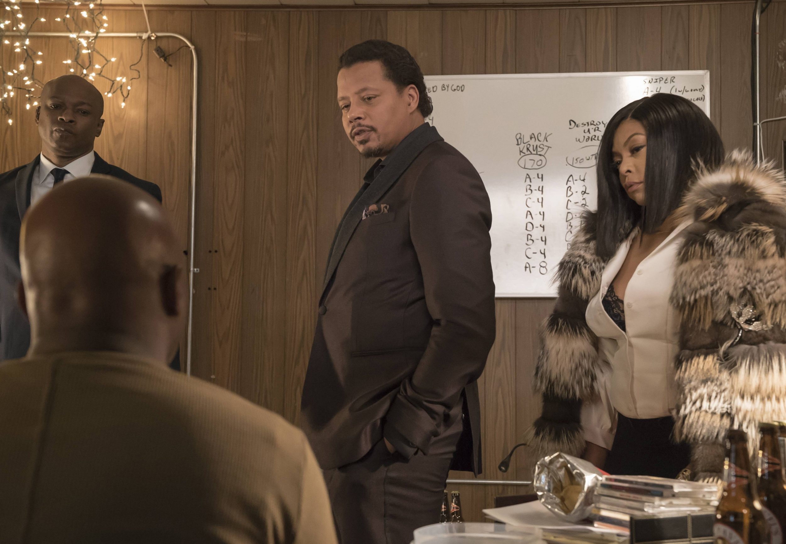 """EMPIRE: Pictured L-R: Web, Terrence Howard and Taraji P. Henson in the """"Sound & Fury"""" spring premiere episode of EMPIRE airing Wednesday, March 22 (9:00-10:00 PM ET/PT) on FOX. ©2017 Fox Broadcasting Co. CR: Chuck Hodes/FOX"""