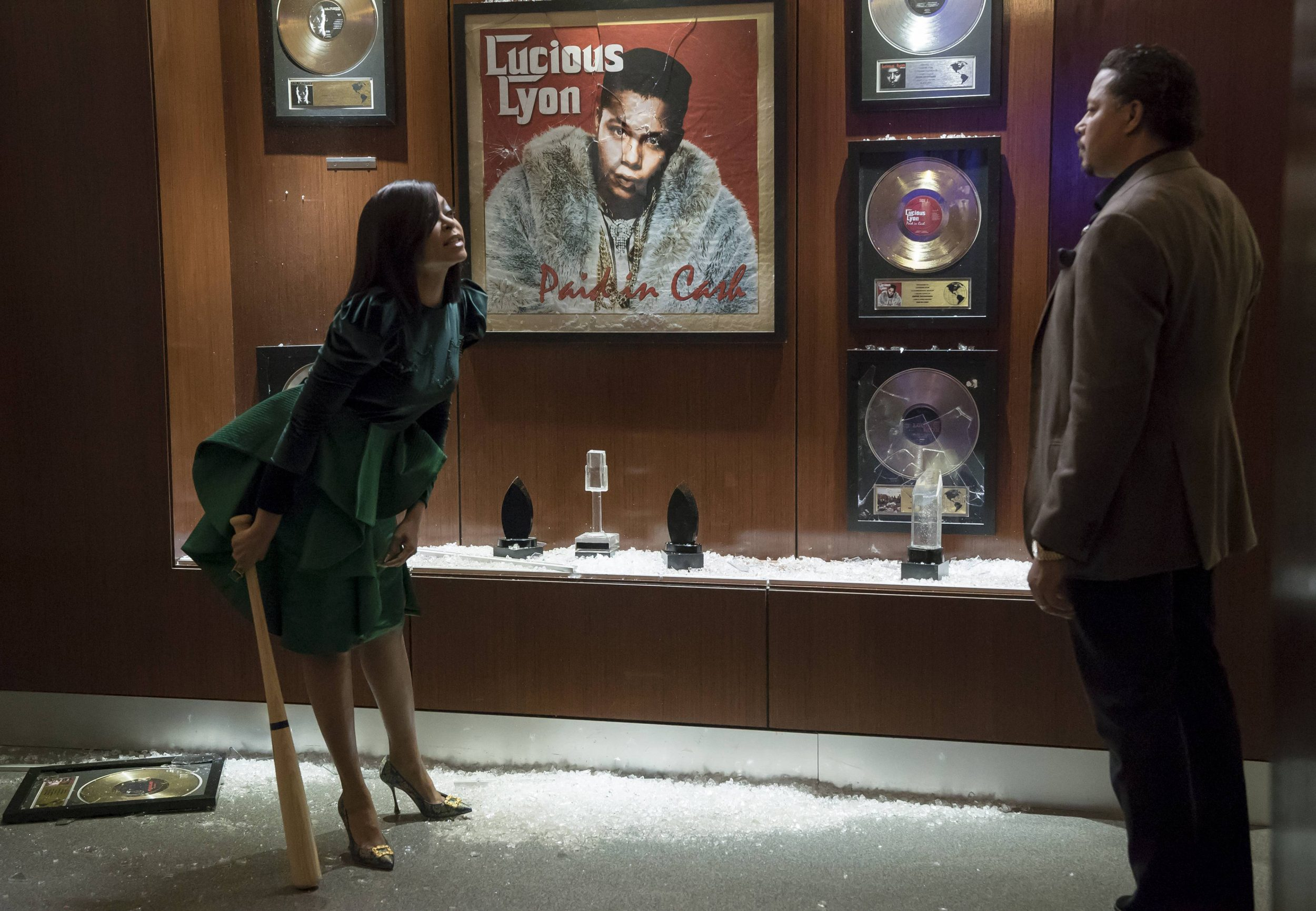 """EMPIRE: Pictured L-R: Taraji P. Henson and Terrence Howard in the """"Sound & Fury"""" spring premiere episode of EMPIRE airing Wednesday, March 22 (9:00-10:00 PM ET/PT) on FOX. ©2017 Fox Broadcasting Co. CR: Chuck Hodes/FOX"""