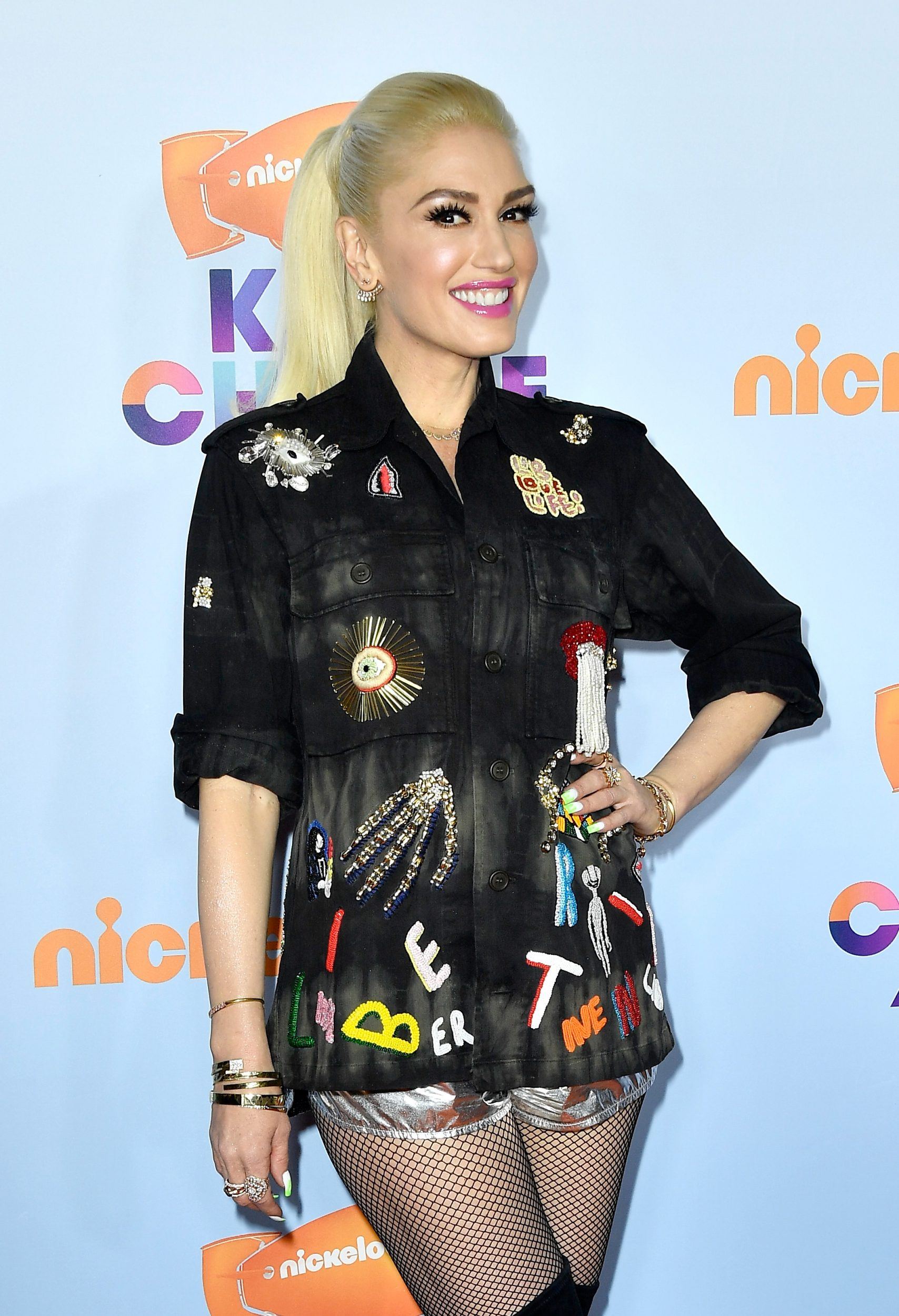 LOS ANGELES, CA - MARCH 11:  Singer Gwen Stefani at Nickelodeon's 2017 Kids' Choice Awards at USC Galen Center on March 11, 2017 in Los Angeles, California.  (Photo by Frazer Harrison/Getty Images - Issued to Media by Nickelodeon - Issued to Media by Nickelodeon)