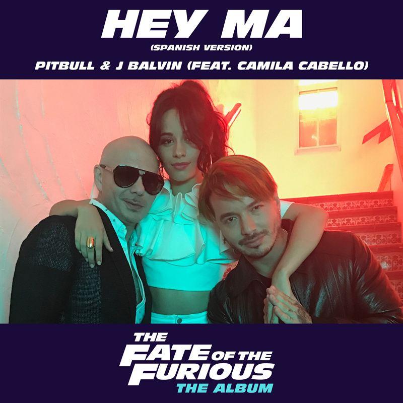 Pitbull, Camila Cabello & J. Balvin in Hey Ma Promo Poster [Telemundo]