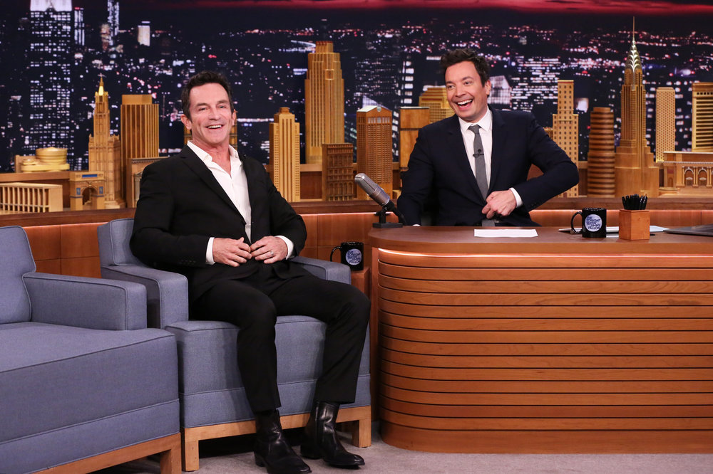 THE TONIGHT SHOW STARRING JIMMY FALLON -- Episode 0634 -- Pictured: (l-r) Game show host Jeff Probst during an interview with host Jimmy Fallon on March 1, 2017 -- (Photo by: Andrew Lipovsky/NBC)
