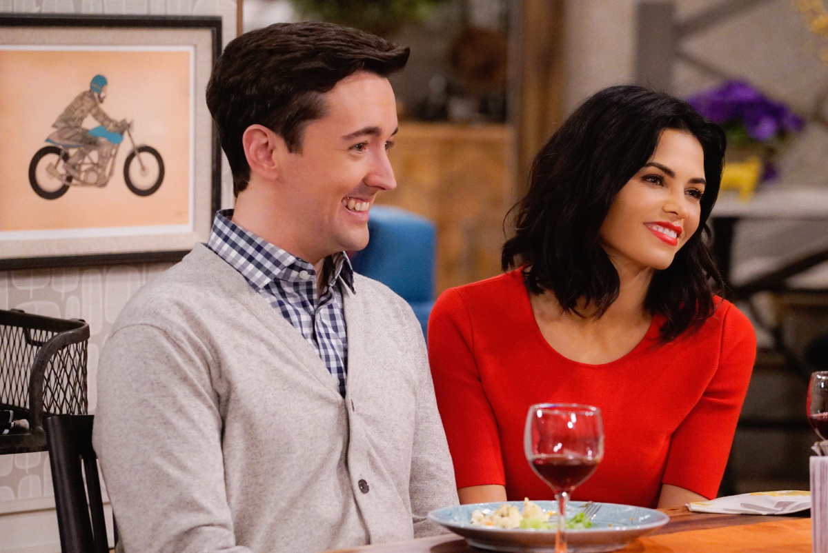 """The A Team"" -- Adam and Andi are shocked when they finally meet Lowell's wife, Jen (Jenna Dewan Tatum), on MAN WITH A PLAN, Monday, March 13 (8:30-9:00 PM, ET/PT) on the CBS Television Network. Picture (L-R) Matt Cook as Lowell and Jenna Dewan Tatum as Jen Photo: Cliff Lipson/CBS ©2017 CBS Broadcasting, Inc. All Rights Reserved"
