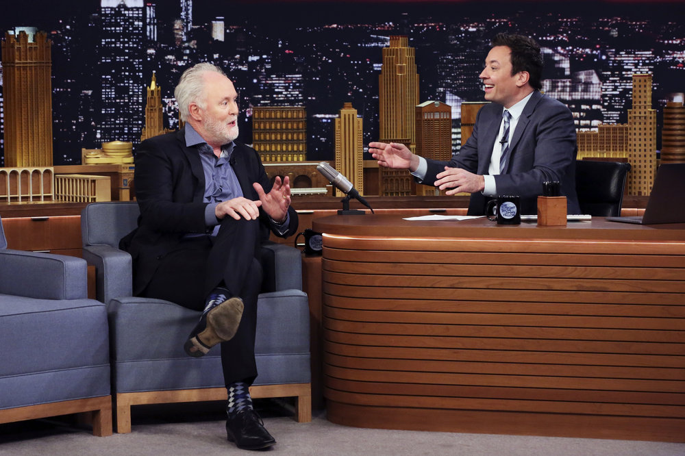THE TONIGHT SHOW STARRING JIMMY FALLON -- Episode 0635 -- Pictured: (l-r) Actor John Lithgow during an interview with host Jimmy Fallon on March 2, 2017 -- (Photo by: Andrew Lipovsky/NBC)