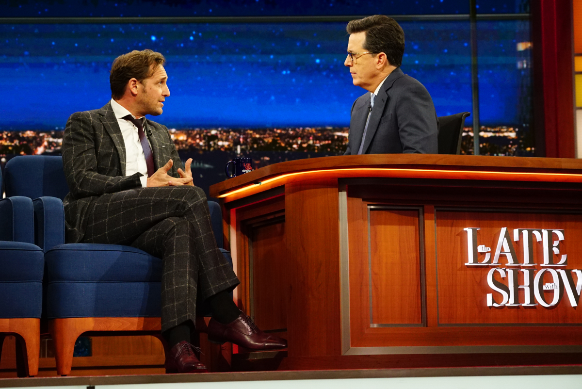 The Late Show with Stephen Colbert on Tuesday, March 21, 2017 with guest Josh Lucas Photo: Mary Kouw/CBS ©2017 CBS Broadcasting Inc. All Rights Reserved