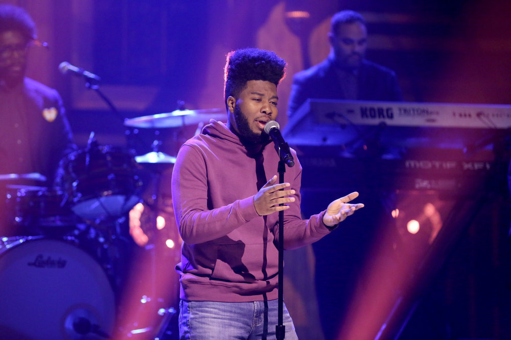 THE TONIGHT SHOW STARRING JIMMY FALLON -- Episode 0639 -- Pictured: Musical guest Khalid performs on March 15, 2017 -- (Photo by: Andrew Lipovsky/NBC)
