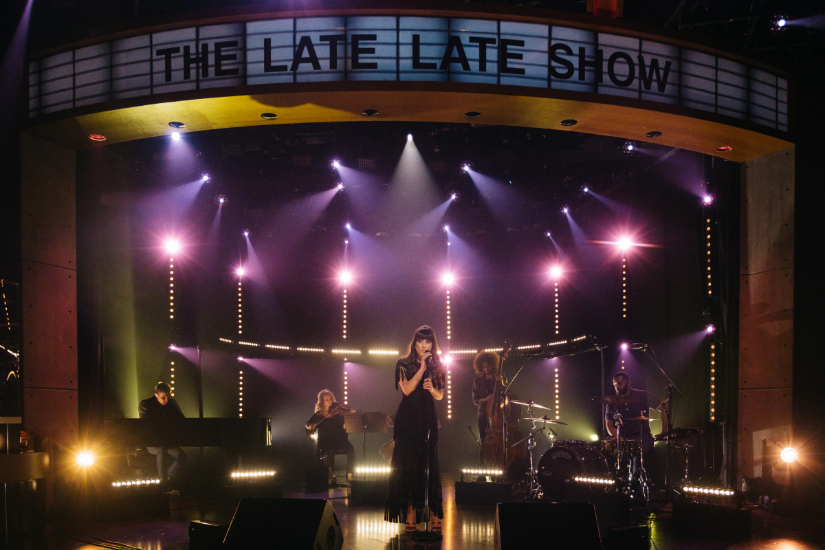 "Lea Michele performs during ""The Late Late Show with James Corden,"" Tuesday, March 14, 2017 (12:35 PM-1:37 AM ET/PT) On The CBS Television Network. Photo: Terence Patrick/CBS ©2017 CBS Broadcasting, Inc. All Rights Reserved"
