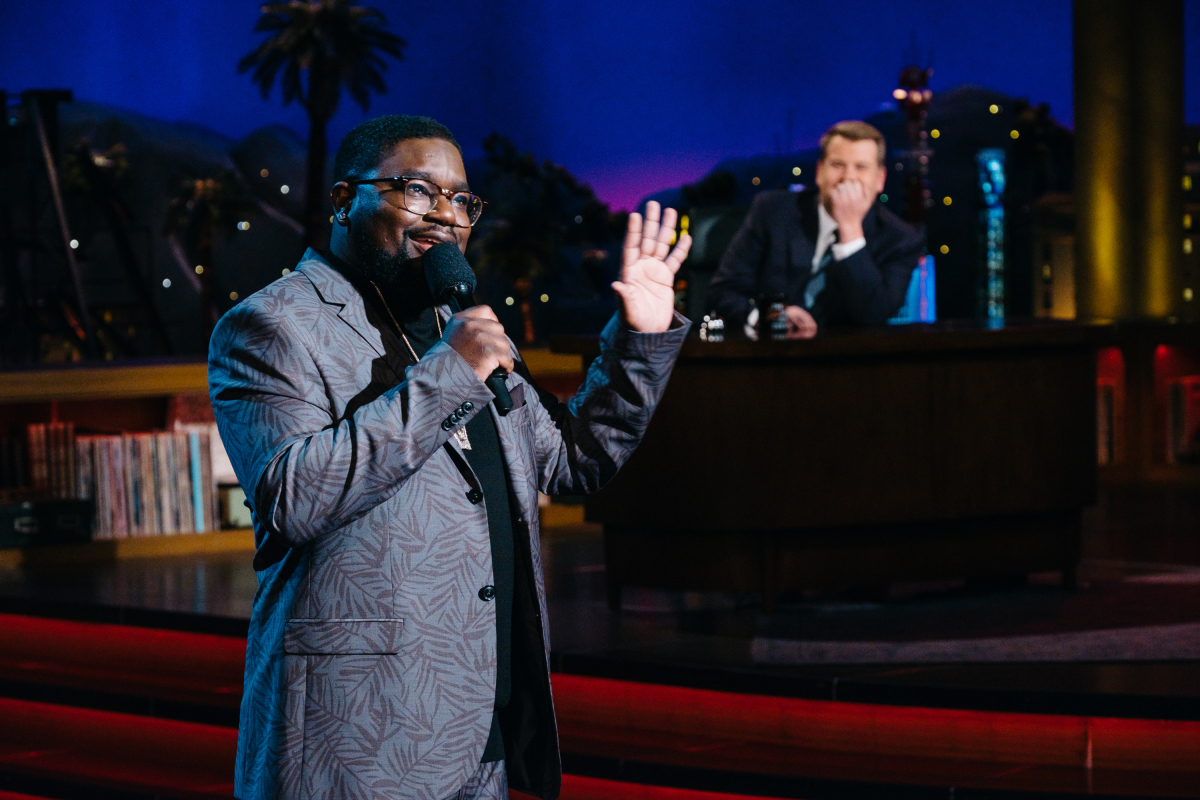 "Lil Rel Howery during ""The Late Late Show with James Corden,"" Thursday, March 16, 2017 (12:35 PM-1:37 AM ET/PT) On The CBS Television Network. Photo: Terence Patrick/CBS ©2017 CBS Broadcasting, Inc. All Rights Reserved"