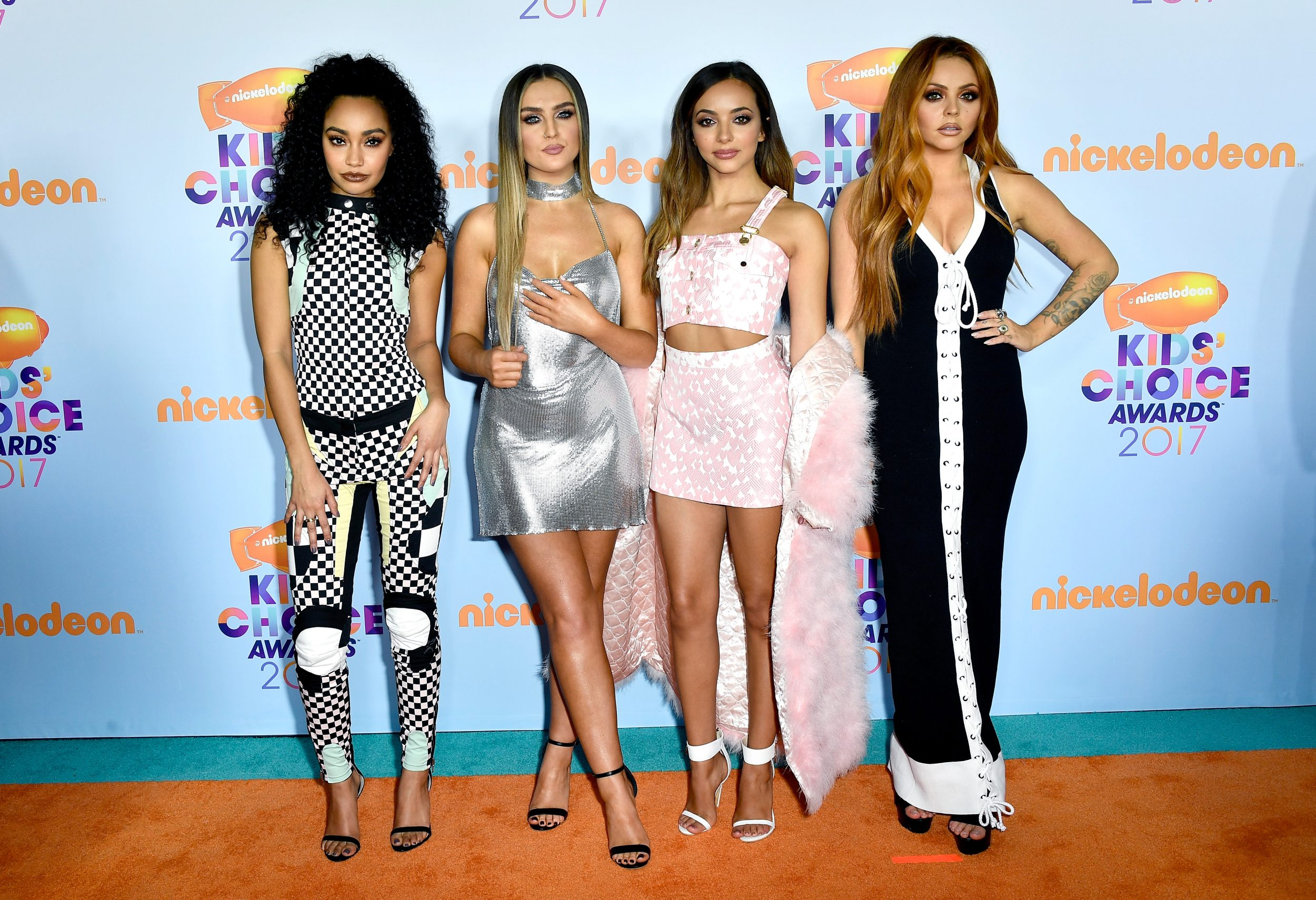 LOS ANGELES, CA - MARCH 11:  Singing group Little Mix at Nickelodeon's 2017 Kids' Choice Awards at USC Galen Center on March 11, 2017 in Los Angeles, California.  (Photo by Frazer Harrison/Getty Images - Issued to Media by Nickelodeon)
