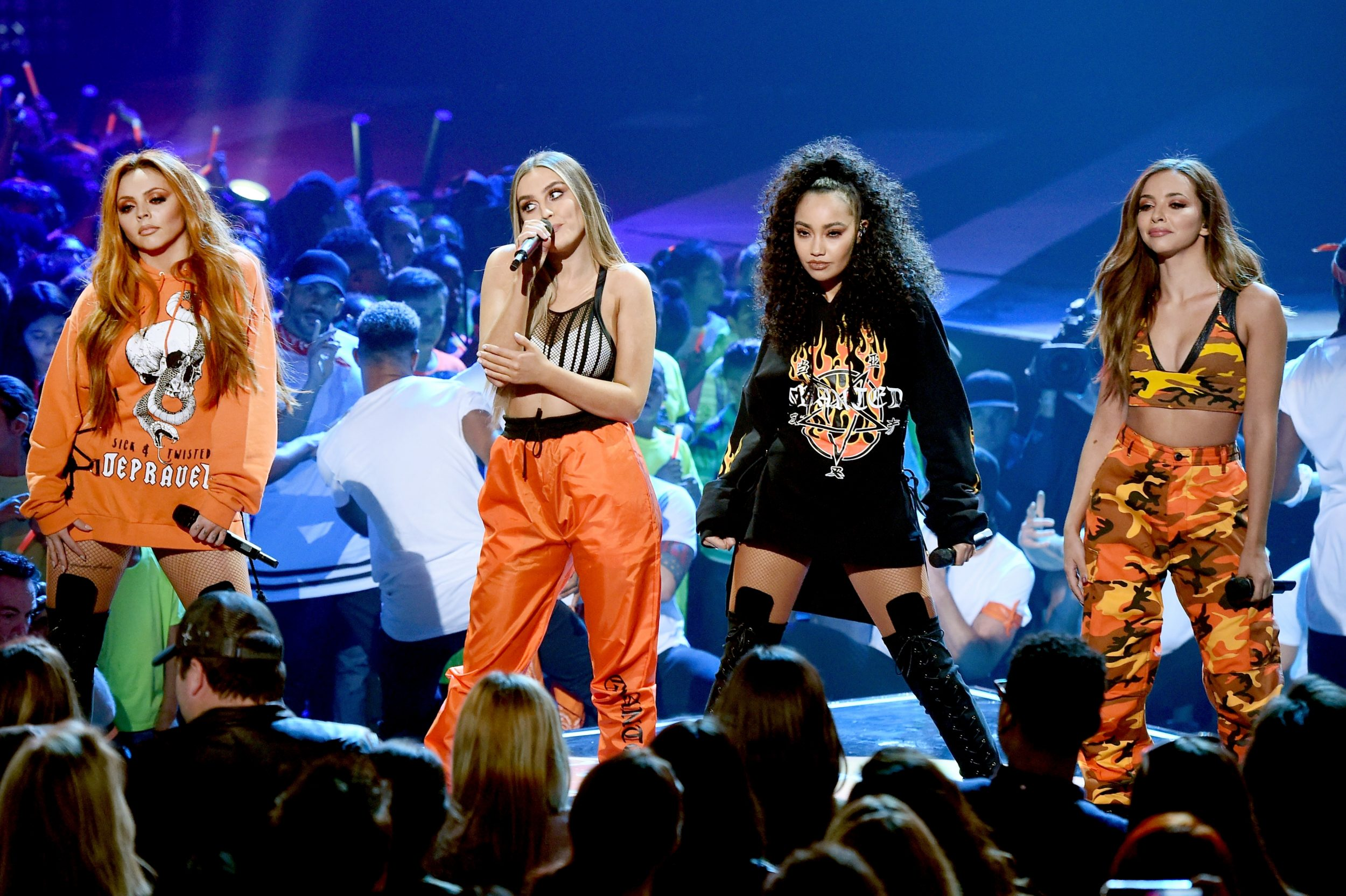 LOS ANGELES, CA - MARCH 11:  Musical group Little Mix performs onstage at Nickelodeon's 2017 Kids' Choice Awards at USC Galen Center on March 11, 2017 in Los Angeles, California.  (Photo by Kevin Winter/Getty Images - Issued to Media by Nickelodeon)