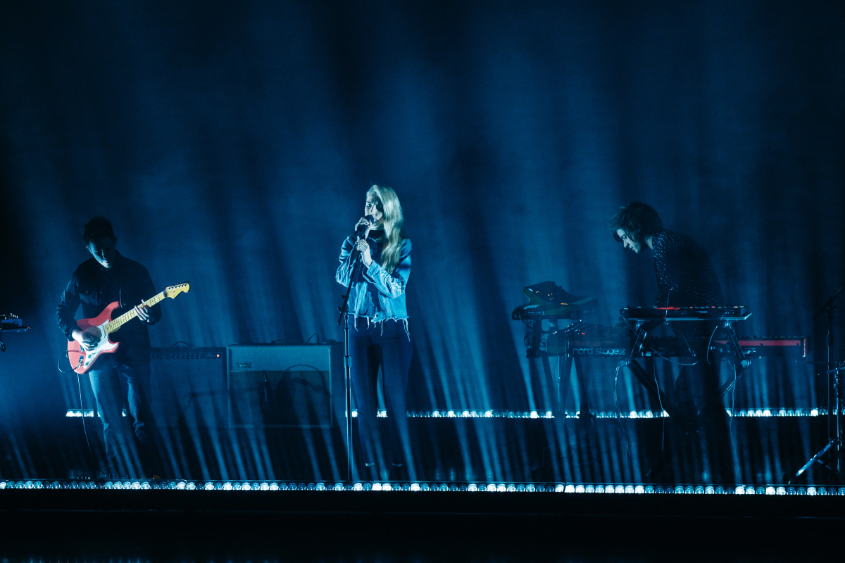 "London Grammar performs during ""The Late Late Show with James Corden,"" Tuesday, February 28, 2017 (12:35 PM-1:37 AM ET/PT) On The CBS Television Network. Photo: Terence Patrick/CBS ©2017 CBS Broadcasting, Inc. All Rights Reserved"
