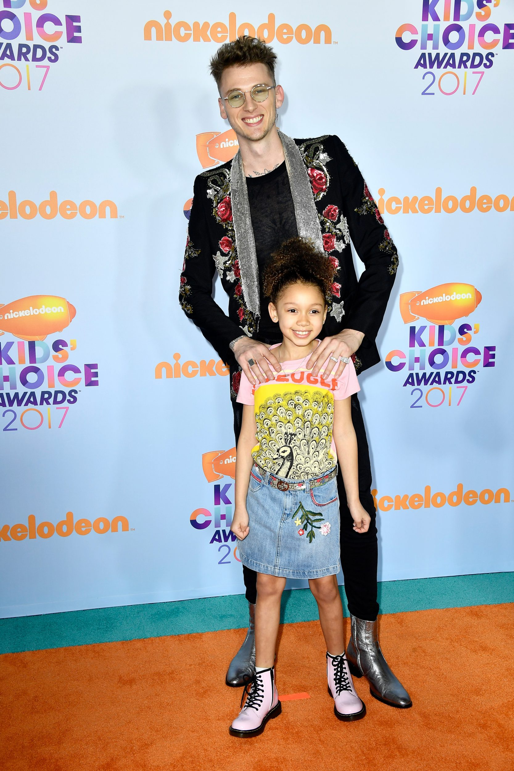 LOS ANGELES, CA - MARCH 11:  Recording artist Machine Gun Kelly and Casie Colson Baker at Nickelodeon's 2017 Kids' Choice Awards at USC Galen Center on March 11, 2017 in Los Angeles, California.  (Photo by Frazer Harrison/Getty Images - Issued to Media by Nickelodeon)
