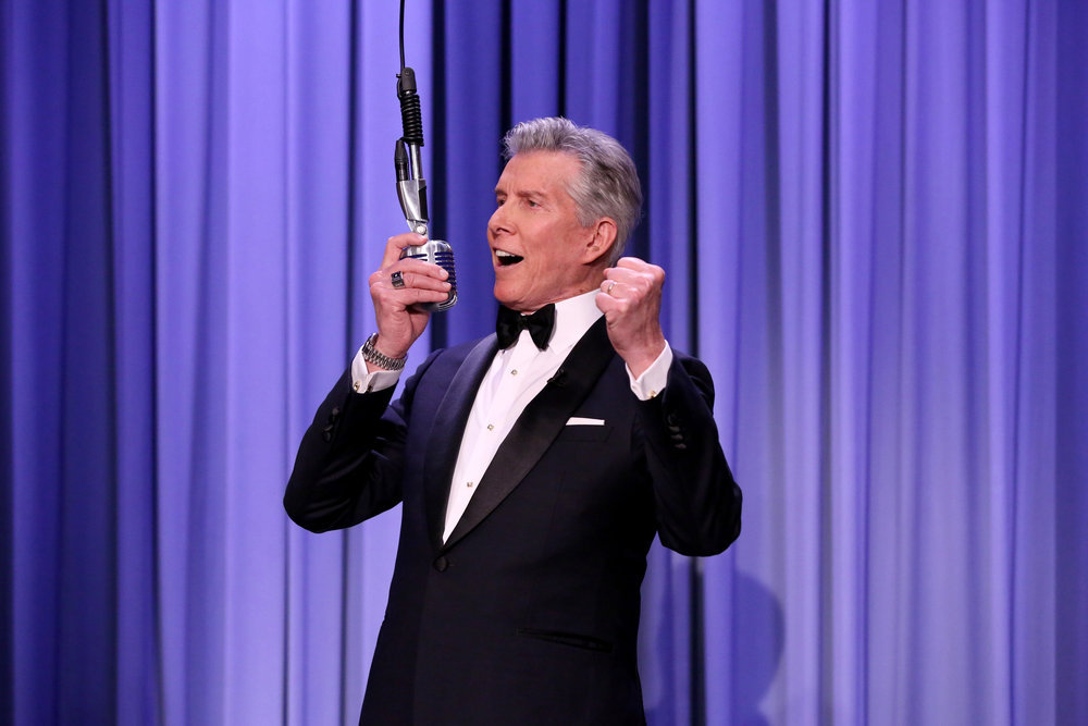 THE TONIGHT SHOW STARRING JIMMY FALLON -- Episode 0639 -- Pictured: Ring announcer Michael Buffer during suggestion box on March 15, 2017 -- (Photo by: Andrew Lipovsky/NBC)