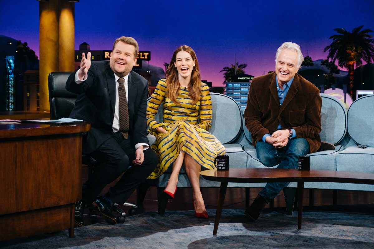 "Michelle Monaghan and Bradley Whitford chat with James Corden during ""The Late Late Show with James Corden,"" Tuesday, February 28, 2017 (12:35 PM-1:37 AM ET/PT) On The CBS Television Network. Photo: Terence Patrick/CBS ©2017 CBS Broadcasting, Inc. All Rights Reserved"
