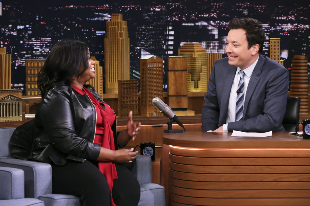 THE TONIGHT SHOW STARRING JIMMY FALLON -- Episode 0635 -- Pictured: (l-r) Actress Octavia Spencer during an interview with host Jimmy Fallon on March 2, 2017 -- (Photo by: Andrew Lipovsky/NBC)