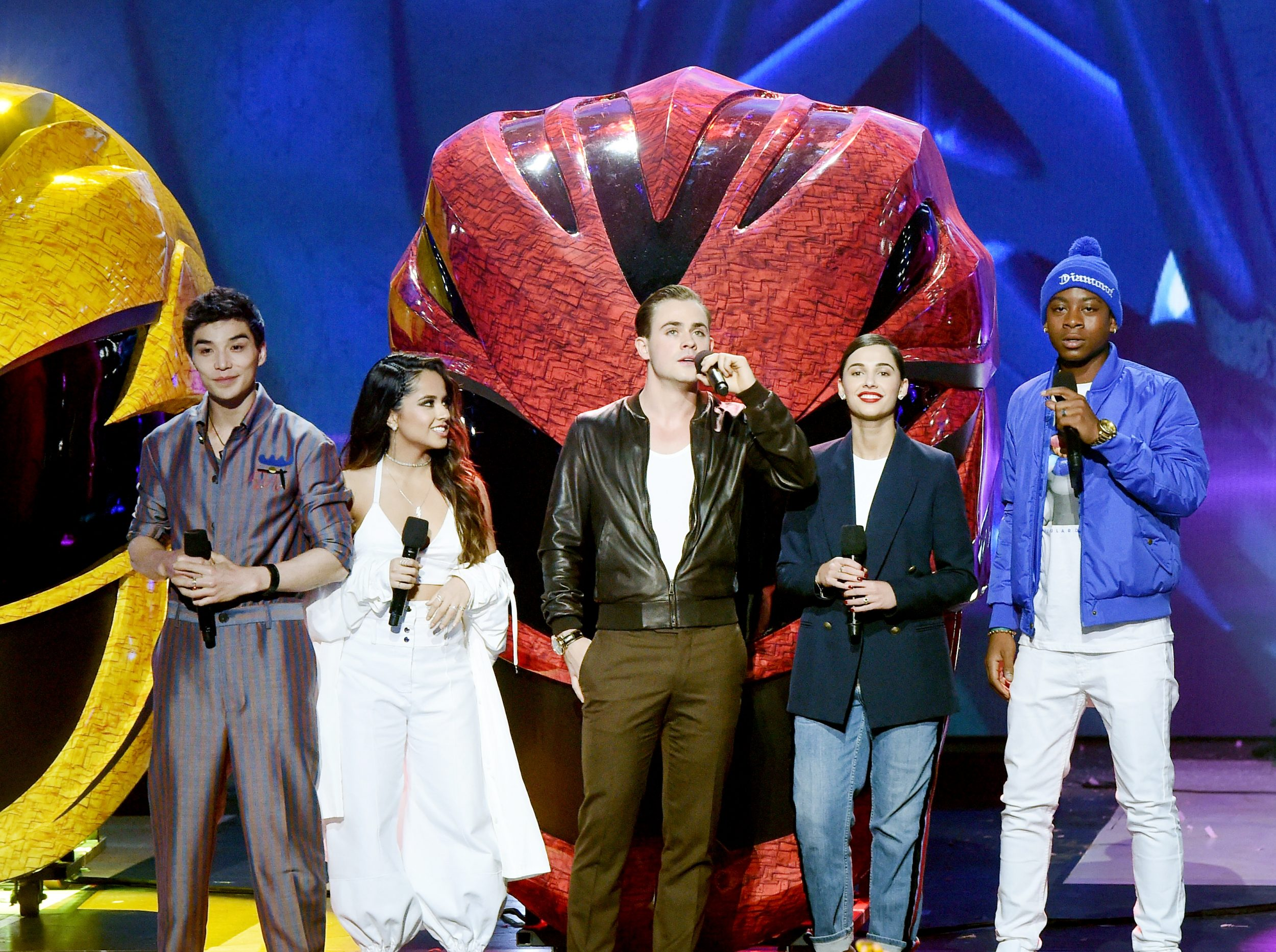 LOS ANGELES, CA - MARCH 11:  The cast of Power Rangers speak onstage at Nickelodeon's 2017 Kids' Choice Awards at USC Galen Center on March 11, 2017 in Los Angeles, California.  (Photo by Kevin Winter/Getty Images - Issued to Media by Nickelodeon)