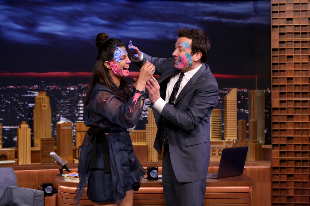 THE TONIGHT SHOW STARRING JIMMY FALLON -- Episode 0637 -- Pictured: (l-r) Actress Priyanka Chopra during an interview with host Jimmy Fallon on March 13, 2017 -- (Photo by: Andrew Lipovsky/NBC)
