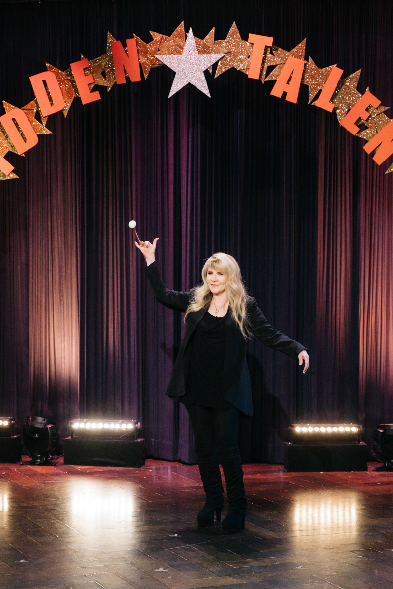 "Stevie Nicks performs for Hidden Talents during ""The Late Late Show with James Corden,"" Tuesday, February 28, 2017 (12:35 PM-1:37 AM ET/PT) On The CBS Television Network. Photo: Terence Patrick/CBS ©2016 CBS Broadcasting, Inc. All Rights Reserved"