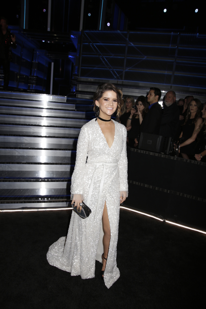 Maren Morris backstage during THE 52ND ACADEMY OF COUNTRY MUSIC AWARDS®, broadcast LIVE from T-Mobile Arena in Las Vegas Sunday, April 2 (live 8:00-11:00 PM, ET/delayed PT) on the CBS Television Network. Photo: Francis Specker/CBS ©2017 CBS Broadcasting, Inc. All Rights Reserved